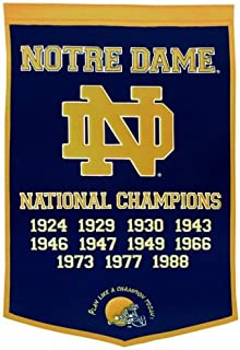 Notre Dame Fighting Irish Football Championship Dynasty Banner - with hanging rod
