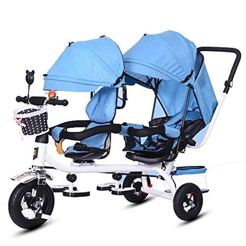 YUMEIGE driewieler driewieler voor kinderen 1-6 jaar driewieler verjaardagscadeau met zonnedak gewicht 300 kg kinderwagen Toddler Trike (kleur: paars, rood, blauw, grijs) verkrijgbaar Rosa Roja