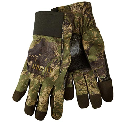Härkila wasserdichter Jagdhandschuh Lynx mit HWS® - Membran in AXIS MSP® - Camouflage für Herren - Atmungsaktiver Handschuh für die Jagd mit Schießfinger, Größe:M
