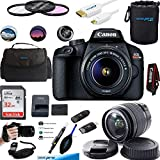 EOS Rebel T100 Digital SLR Camera with 18-55mm Lens Kit + Essential Accessories Bundle