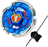 Dwin Bey Battling Top Blades with Ripcord Launcher Metal Fusion Fight Bay BB-28 Storm Pegasus I Drago Master Rapidity 4D High Performance Gaming Toys Spinning Top Battle Gyro Starter Set Gift for Boys