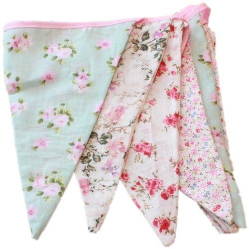 Fanions Tissu Liberty - Guirnaldas de tela, diseños florales, 3 metros