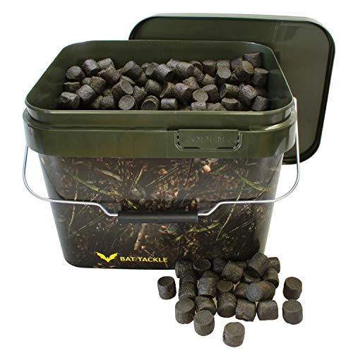 BAT-Tackle Black Base Pellet 20mm 5kg im Realistric® 10L Angel- Futter