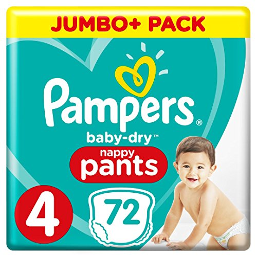 Pampers Baby-Dry Pants (Gr. 4 (9-15 kg), Windeln mit Luftkanälen) 1er Pack (72 Stück)
