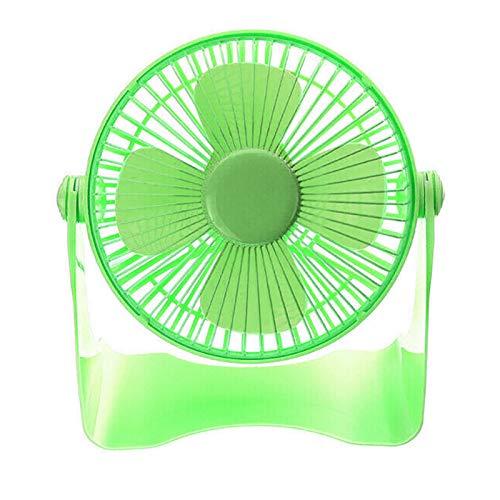 Yosemite Ventilador USB de 7 pulgadas de verano de bajo ruido USB recargable ventilador de escritorio mini ventilador de refrigeración oficina hogar escritorio silencioso giratorio aire Cooler- verde