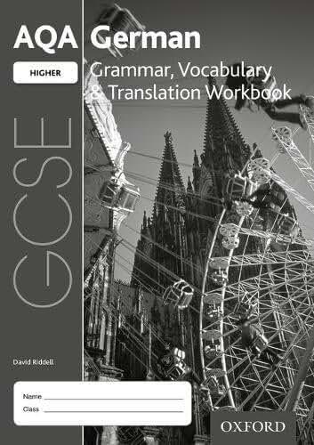 AQA GCSE German Higher Grammar, Vocabulary & Translation Workbook (Pack of 8)