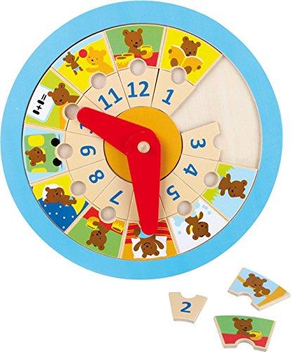 Small Foot Company (Smb5V) - 4753 - Apprendre À Lire Et À Écrire - Horloge À Apprendre - Ourson
