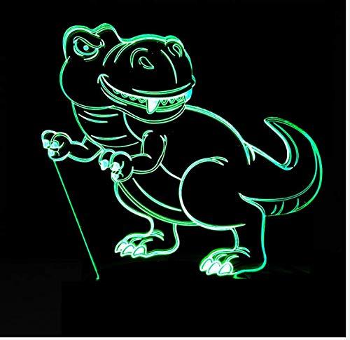 Nieuwste nachtlampje, kleurrijk, 3D, dinosaurus, estotisch, LED-licht met stroomvoorziening