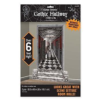 Gothic Mansion Long Hallway Scene Setters | Halloween Decorating Kit