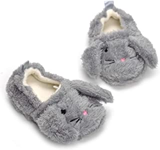 Csfry Baby Girl's Premium Soft Plush Slippers Cartoon Warm Winter House Shoes