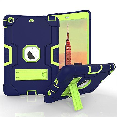 Daker , iPad Mini 2Case für iPad Mini 3, iPad Mini Fall, Slim Bumper Smart Case Ständer Wasserdicht schmutzfest stoßfest für Apple iPad Mini 1/2/3Bunten, Rückseite Durchsichtig Leicht Navy Green