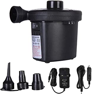 Electric Air Pump, Household/Vehicle-Mounted Air Pump, With 3 Inflatable Ports, Inflatable Cushions, Perfect Inflator/Defl...