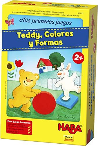 Haba Figuras Geométricas de Teddy-ESP, para 1-4 niños de 2 años, para Aprender Colores y Formas, Multicolor (Habermass 304077)