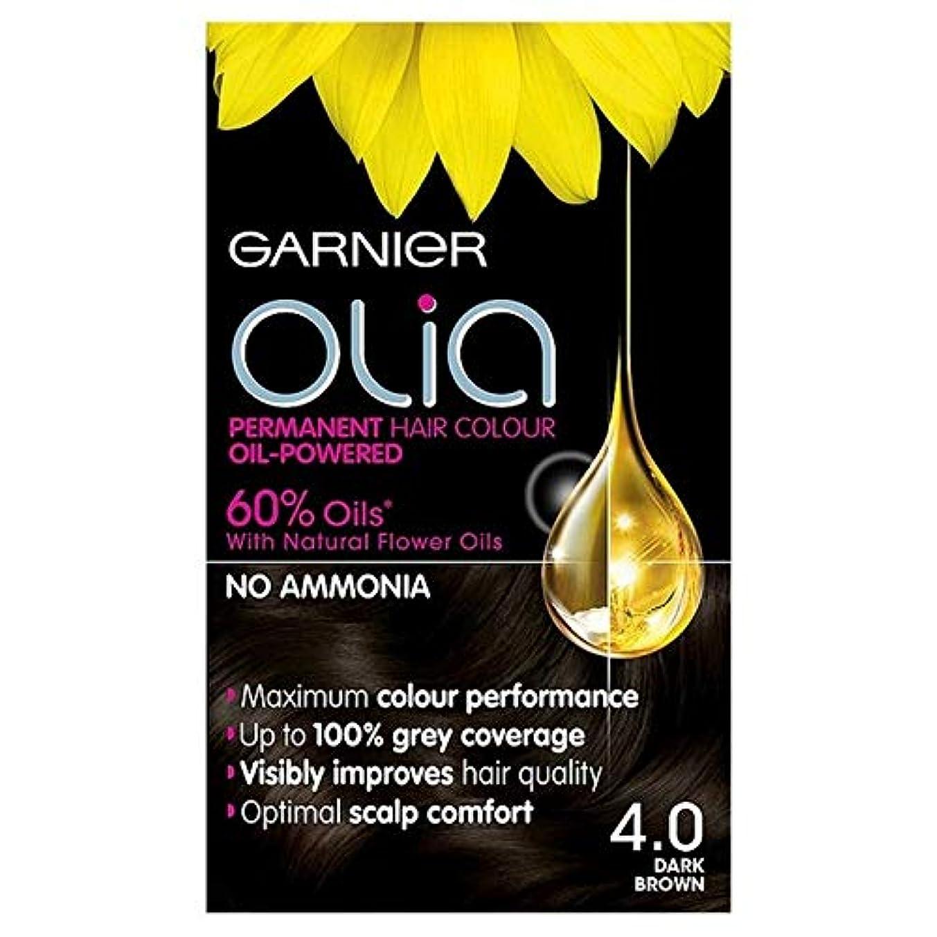 リベラル病んでいるクラックポット[Garnier ] 4.0ダークブラウン永久染毛剤Oliaガルニエ - Garnier Olia 4.0 Dark Brown Permanent Hair Dye [並行輸入品]