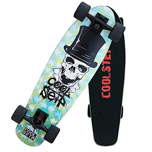 WHOJS Skate Longboard Cruiser 27 Pulgadas Cubierta De Madera Patineta Niños Adultos Polea Esmerilada De 72mm Capacidad De Carga 330 Lbs. 【Selección de Color y Motivo】 (Color : #4)