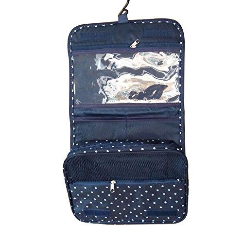 Sorliva (blue dots) Trousse sac de lavage sac de Voyage Organisateur imperméable à l'eau de toilette multifonction Wash Bag Sac de toilette cosmétiques sac de baignade