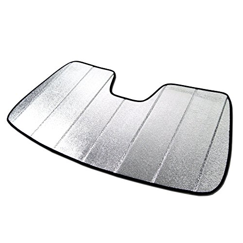Tuningpros SS-231 Custom Fit Car Windshield Sun Shade Protector, Sunshade Visor Silver & Grey 1-pc Set Compatible With 2008-2014 Mercedes-Benz C-Class W204 C230 C280 C300