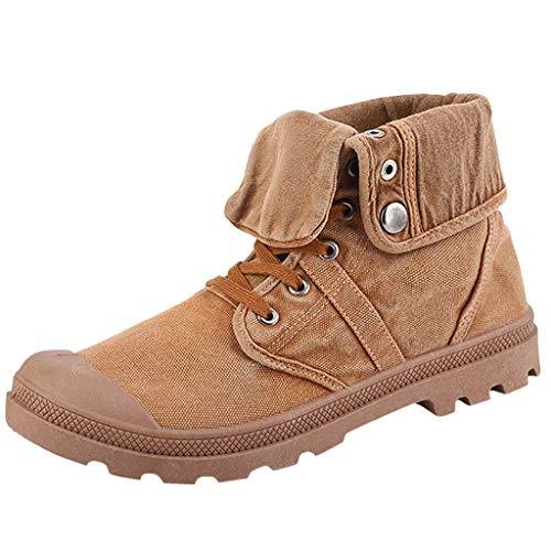 Herren High-Top Espadrilles Schuhe Segeltuchschuhe Stiefel mit Dickem Boden Plateauschuhe Stiefeletten Outdoor-Schuhe, Gelb