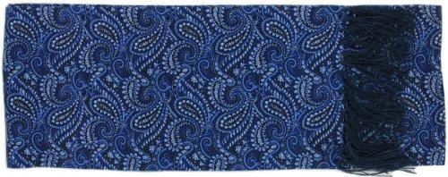 Michelsons of London Écharpe bleu partout Paisley Silk de