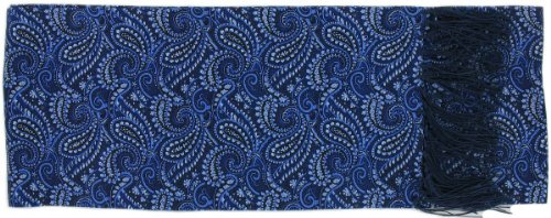 Michelsons of London Écharpe bleu partout Paisley Silk de
