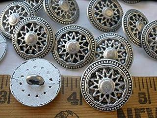 1 Dozen Steampunk Antique Gold VintageTwo Piece Construction metal Shank Buttons Style 6104
