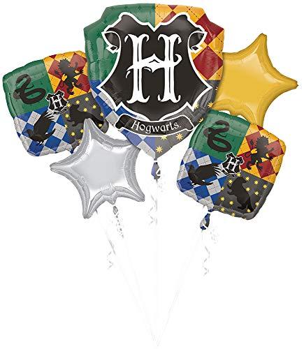 ANAGRAM Ramo de la de 5 Globos Lámina para Fiesta Harry Potter Adornos Partido 1822 - Multicolor, -