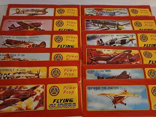 Schnooridoo 24 x Styroporflieger Flugzeug - Flugzeuge aus Styropor - Bausatz - Wurfgleiter Mitbringsel Kindergeburtstag Zero Tomahawk Mustang