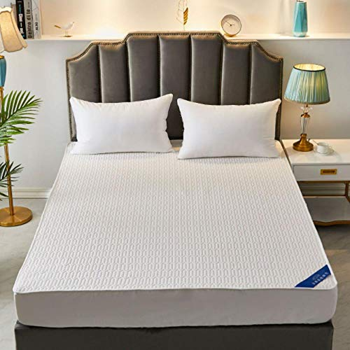 GSYHZL DEPTH Fitted Sheet,Cotton hotel apartment non-slip latex mattress protection cover, suitable for single double super king-size bed-C_200cmx220cm+30cm