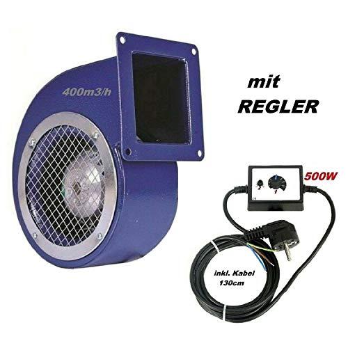 Uzman-Versand SG160ER Radialgebläse mit 500W REGLER, Radial Ventilator/Gebläse/Lüfter Kühlgebläse Heizungsgebläse Heizgebläse Baugebläse