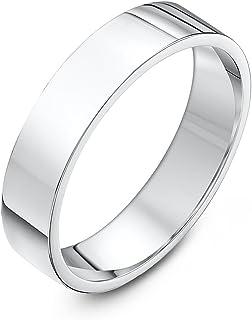 Theia 中性款超厚平底 COURT 形状抛光9克拉白金结婚戒指