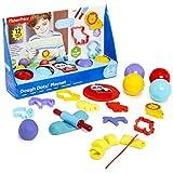Fisher Price Kit Manualidades para Niños, Juego de 12 Piezas Plastilina Niños, Incluye Moldes y Herramientas Plastilina, Juegos Educativos Regalos para Niños y Niñas Edad 3+