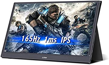 G-STORY Portable Monitor - 15.6 Inch 165Hz 144Hz 1ms 1080P FHD IPS Screen USB C Gaming Monitor with 2 Build-in Speakers Mi...