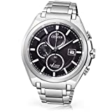 Citizen Super Titanium CA0350-51E - Reloj cronógrafo de Cuarzo para Hombre, Correa de Titanio Color Plateado