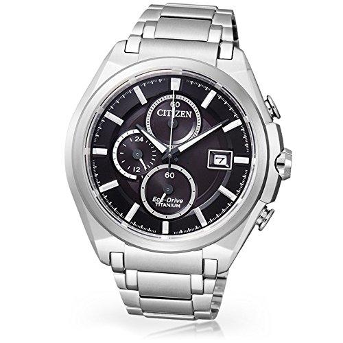 Citizen Super Titanium CA0350-51E - Reloj cronógrafo de Cua