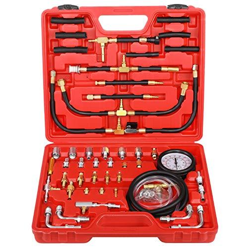 N / A YSTOOL Fuel Injection Pressure Tester Gauge Kit 140PSI Car Gasoline Gas Engine Fuel Injector Pump Test Manometer Tool Set