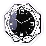 TETAKE 3D Horloge Murale Silencieuse ø 30 cm Pendule Murales Silencieuse Horloge Moderne Design Pendule Decorative pour Cuisine/Chambre/Salon/Bureau