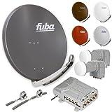 Fuba DAA 850 HD PREMIUM Sat Anlage - 8 Teilnehmer 2 Satelliten - Sat Anlage zum Empfang von 2 Satelliten mit bis zu 24° Abstand