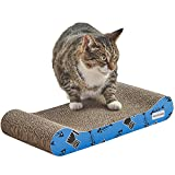 MILO & MISTY 3 Piece Patterned Scratching Pad - Cat Scratching Post - Durable Cardboard Lounger Set with Free Catnip