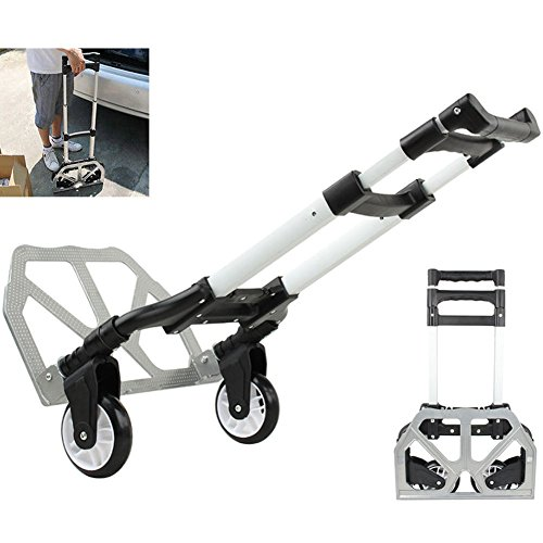 Price comparison product image 170 lbs Aluminium Cart Folding Dolly Push Truck Hand Collapsible Trolley Luggage