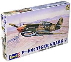 Flying Tigers markings, detailed cockpit. Decals for three aircraft; water activated decals contain national markings, aircraft identification letters, and aircraft artwork. Detailed 1/48th scale plastic kit for static display. 61 parts in olive drab...