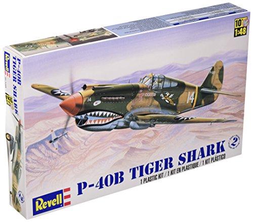 Revell 1:48 P - 40B Tiger Shark Plastic Model Kit