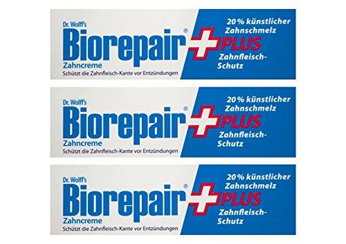 3x BioRepair plus Zahncreme 75ml Zahnfleisch-Schutz Zahnpasta Dr. Wolff`s