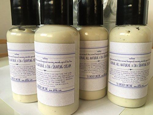 """Herbal All-Natural """"3-in-1"""" Shaving Cream, Ditlihi Originals™ 4-PACK"""