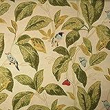 Staab's Beschichtete Baumwolle Dekostoff Blätter Vögel