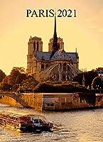 ドレジャー 2021年 ポスターカレンダー PARIS(壁掛けタイプ) パリ エッフェル塔 風景 写真 月曜始まり フランス製 中国印刷