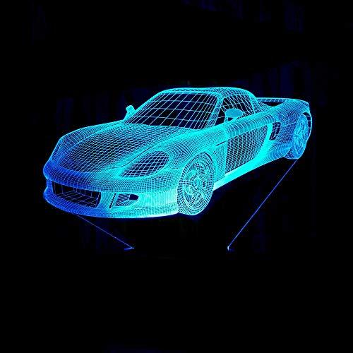 Ausländisches Auto 3D Light Touch 7 Bunte LED 3D-Lampe Weihnachtsgeschenke Kinderlampe