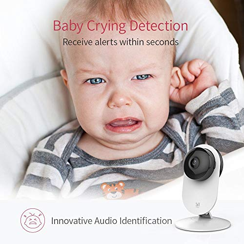 YI by kami 4pc Security Home Camera, 1080p WiFi Smart IP Indoor Nanny Cam with Night Vision, 2-Way Audio, Motion Detection, Phone App, Pet Cat Dog Cam - Works with Alexa and Google