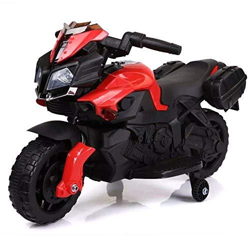Moto Elettrica Per Bambini Sprint 6V Rossa Controllo a Pedale Luci e Suoni Bakaji