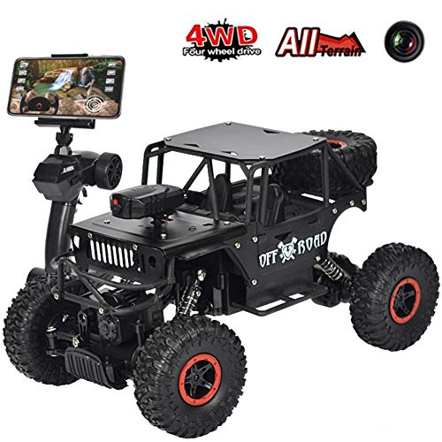 RC Car, Newest 2.4Ghz 4WD Off-Road Remote Contorl Car with HD Camera, High Speed Remote Control Vehicle RC Car Toy for Children & Adult,Black