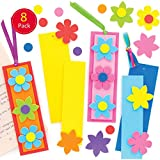 Baker Ross Blumen Mix & Match Lesezeichen Bastelset für Kinder (8 Stück) Kreativsets zum Basteln...